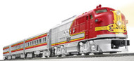 Lionel O Scale Ready-to-Run Santa Fe Super Chief with Railsounds FT Diesel Passenger Train Set - 630178