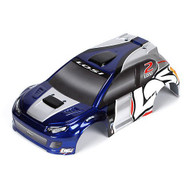 Losi 1/24 4WD Rally Painted Body, Blue/Silver ~ B1795