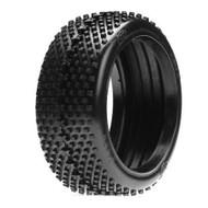 Team Losi 1/8 XBT Buggy Tires w/Foam, Red (2) -7763R