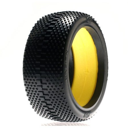 Team Losi 1/8 Kingpin Buggy Tire, Red with Foam (2) ~ A7770R