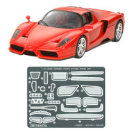 Tamiya 1/24 Enzo Ferrari with Detail-Up Parts Car Model Kit - 24327