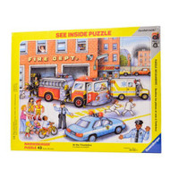 Ravensburger See Inside Fire Station 43 Piece Kids Puzzle - 06645