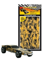 PineCar Derby Racers Custom Body Skin Smoke Screen - 3976