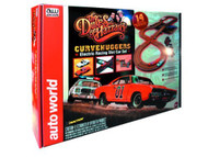 Auto World Dukes of Hazzard Curvehuggers HO Scale Slot Car Set - SRS259