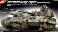 Academy 1/35 German King Tiger Last Production Tank Model Kit - 13229 (NEW! - Arrives in April)