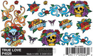 PineCar Derby Racers Dry Transfer Decals True Love - 4026