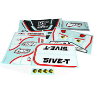 Losi 5IVE-T Sticker & Graphic Sheet Set: Black ~ B8255