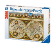 Ravensburger World Map 1665 3000 Piece Jigsaw Puzzle - 17054