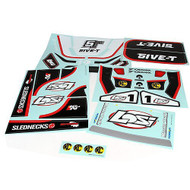 Losi 5IVE-T Sticker & Graphic Sheet Set: White ~ B8256