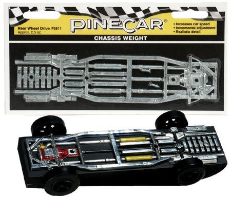 PineCar Derby Racers Chassis Weight Rear Wheel Drive - 3911