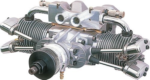 Saito 182 Twin Cylinder Dual Plug: DD ~ E182TD
