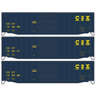 Accurail HO Kit 50' Exterior Post Steel Box, CSX (3) ~ 8026