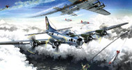 Academy 1/72 B-17G 15th Air Force Airplane Model Kit - 12436