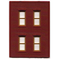 DPM Design Preservation Models HO Scale Modular System Two-Story 4 Rectangle Windows (4 Pieces) - 30138