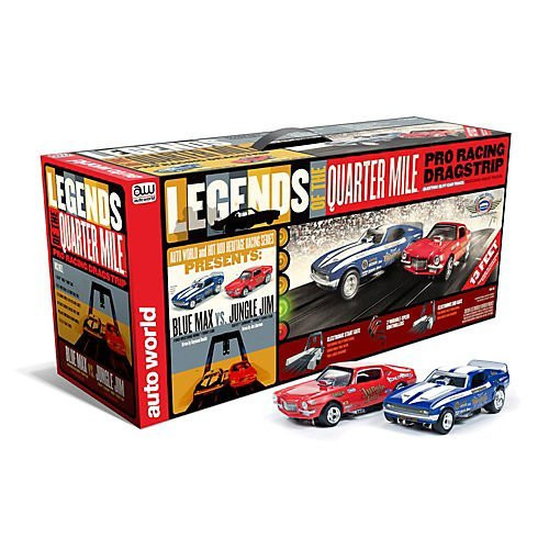 Auto World Legends Of The Quarter Mile Pro Racing Dragstrip Ho Scale