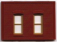 DPM Design Preservation Models HO Scale Modular System One-Story 2 Rectangular Window Wall (4 Pieces) - 30130