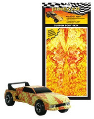 PineCar Derby Racers Custom Body Skin Fire Starter - 3977