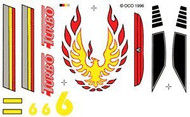 PineCar Derby Racers Dry Transfer Decals Turbo - 313