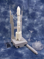 Aoshima 1/350 H-11B Launch Vehicle & Mobile Launcher Model Kit : 005101