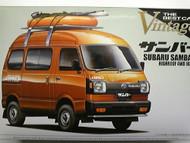 Aoshima 1/24 1973 Subaru Sambar High Roof 4WD Microvan Car Model Kit : 002377