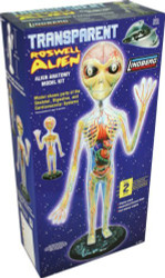 Lindberg Transparent Roswell Alien Educational Model Kit - 76014