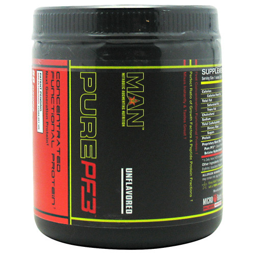 MAN Sports, Pure PF3, Unflavored, 50 Servings