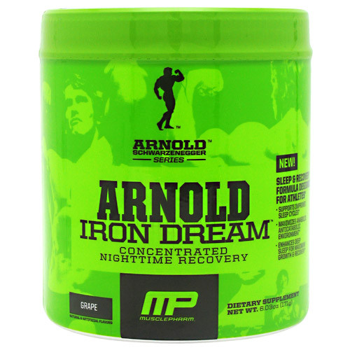 Arnold By Musclepharm, Iron Dream, Grape, 30 Servings