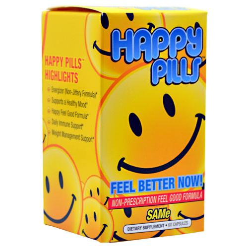 Brain Pharma, Happy Pills, 60 Capsules, 60 Capsules