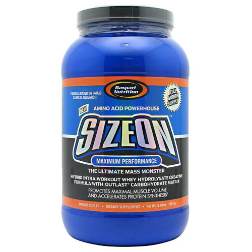 Gaspari Nutrition, SizeOn, Orange Cooler, 3.49 lbs. (1584 g)