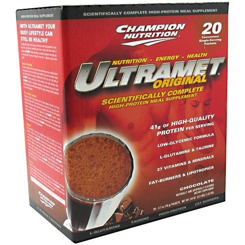 Champion Nutrition, Ultramet Original, Chocolate, 20 - 2.7 oz (76 g) packets [54 oz (3.4 lb) 1.52 kg