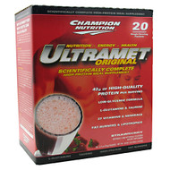 Champion Nutrition, UltraMet Original, Strawberry, 20 - 2.7 oz (76 g) Packets 54 oz (1.53 KG)