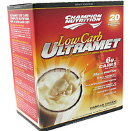 Champion Nutrition, Low Carb Ultramet, Vanilla Cream, 20 - 2 oz (56 g) packets [2.47 lb (1.12 kg)]