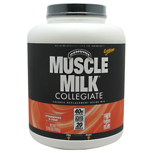 CytoSport, Muscle Milk , Strawberry Creme, 5.29 lbs (2400 g)