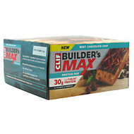 Clif Builder's Builder's Max, Mint Chocolate Chip, 9 Bars - 3.4 oz (97g) each