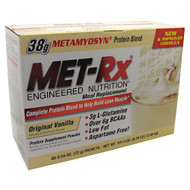 MET-Rx Meal Replacement Protein Powder, Original Vanilla, 40 - 2.54 oz (72 g) Packets [101.5 oz (2.88 kg)]