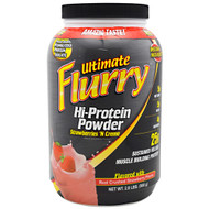 Advance Nutrient Science, Ultimate Flurry Hi-Protein Powder, Strawberries 'N Creme, 2 lb (908g)