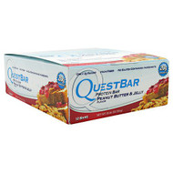 Quest Nutrition Quest Protein Bar, Peanut Butter & Jelly, 12-2.12 oz (60g) Bars