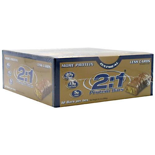 2:01, 2:1 Protein Bar, Oatmeal, 12 Bars