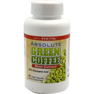 Absolute Nutrition, Absolute Green Coffee Bean Extract, 60 Veggie Capsules, 60 Veggie Capsules