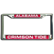 Alabama Crimson Tide Laser Cut Chrome License Plate Frame