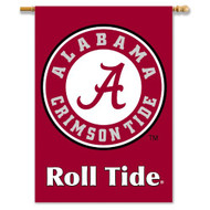 "Alabama Crimson Tide ""Roll Tide"" Double-Sided 28""x40"" Banner"