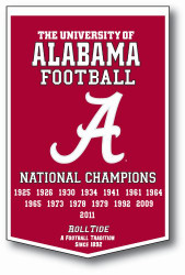 "Alabama Crimson Tide 24""x36"" Dynasty Wool Banner"