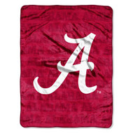 "Alabama Crimson Tide 46"" x 60"" Micro Raschel Throw Blanket - Grunge Style"