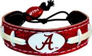 """Alabama Crimson Tide Bracelet - """"A"""" Team Color Football"""