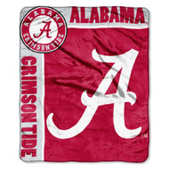 "Alabama Crimson Tide 50""x60"" Royal Plush Raschel Throw Blanket -  School Spirit Style"