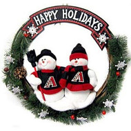 "Arizona Diamondbacks 20"" Team Snowman Wreath"