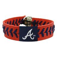 Atlanta Braves Baseball Bracelet - Team Color Style