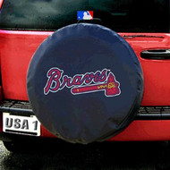Atlanta Braves Black Tire Cover - Standard Size