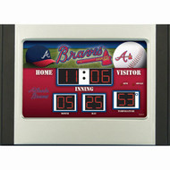 Atlanta Braves Scoreboard Desk & Alarm Clock