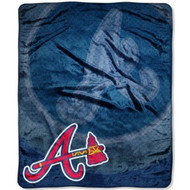 "Atlanta Braves 50""x60"" Retro Style Royal Plush Raschel Throw Blanket"